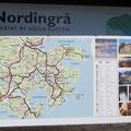 Die Gegend um Nordingra ist im Verzeichnis der UNESCO zu finden: Das Land steigt seit der Eiszeit um 8 mm pro Jahr an - Weltrekord.