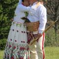 Fototermin mit einem slowakischen Hochzeitspaar. Nette Unterhaltung für uns beim Mittagspicknick.