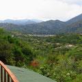 Blick von unserer Terrasse nach Vilcabamba.