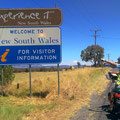 Wir sind in New South Wales angekommen.