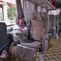 Die VIP-Reisebusse (unbedingt VIP buchen), sind sehr bequem zum Reisen.
