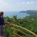 Wunderbarer Blick vom Leuchtturm über die Insel.