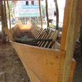 Ein neues Langboot entsteht.
