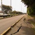Kurz vor Bogota. Nicht immer sind die Radwege ein Hit.