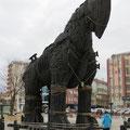 """Das Trojanische Pferd aus dem Film """"Troja"""", 2004, mit Brad Pitt als Achilles"""