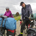 Wir treffen einen Norweger, der mit kleinen Unterbrüchen seit 1996 unterwegs ist.