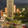 Gewitterstimmung über Bogota.