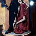 Ausgefallenes rotes Brautkleid