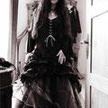 schwarzes Lack Brautkleid