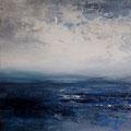 Blue Dimension 2, acrylic on canvasboard 30x30, framed