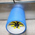 Reinigung der Luftleitung via Bodengitter (7cm breit)
