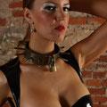 Schwerer Stahl Halsband Metallhalsband mit Spitzen