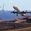 Flughafen Santa Cruz, Boeing 757-300 (Foto: Uwe Kragl)