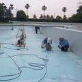 施工実績:流れるプール施工例