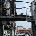 施工実績:スチール製階段