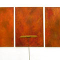 n.t.  (triptych) 170 x 120 cm (each), oil on canvas, object wood, steel, signed 1991, € 19.500