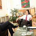 Interview mit dem damaligen Landwirtschafts- und Umweltminister Josef Pröll. - Vielen Dank an János Fehérváry für das Foto!