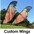 Custom Shaped Wing Flags