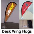 Desk Teardrop Flags