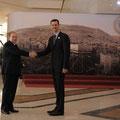 الرئيس الأسد يرحب بالقادة العرب المشاركين في قمة دمشق العربية العشرين المنقدة في دمشق ويستقبلهم في قصر المؤتمرات - 28.03.2008