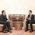 عقد الرئيس الأسد جلسة مباحثات مع جلالة الملك تناولت علاقات الأخوة التي تجمع سورية والأردن والتعاون القائم بين البلدين في المجالات المتعددة - 11.05.2009