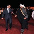 16.01.2009 - الرئيس الأسد يصل الدوحة للمشاركة في القمة العربية الطارئة