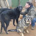 Cédric avec Truhan (adopté) et Jara la belle!