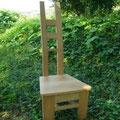 樽材椅子A正面