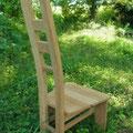 樽材椅子A背面