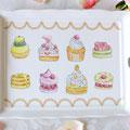 彩色チャイナペインティング・自由課題 ケーキ