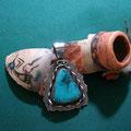 Morenci Turquoise [ Arizona ]    Harold Becenti [ Navajo ]