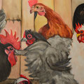 Hühnerei, Leinwand auf Keilrahmen, 50 cm x 1,00 m