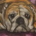 Hundezeit, Leinwand auf Keilrahmen, 50 cm x 1,00 m