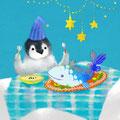 子ペンギンのディナー