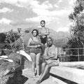 Con sus hijos vacacionando en Cordoba
