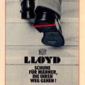1968: Der rote Streifen wird bei LLOYD eingeführt und ist seitdem das Markenzeichen für besondere Schuhe und  Perfektion im Schuhhandwerk.