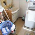 改修前の狭かった洗面脱衣室