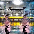 stadtkriegerin alex I mixed media, collage, 30x30 cm