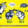 アニメーション用牛キャラ