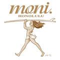 モニガール1  「モニ」のマスコットキャラとしてハワイの元気なロコガールをイメージしました。