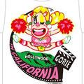hollywood  ゴリエちゃんが、ハワイに続き、  カリフォルニア親善大使になった記念Tシャツ01