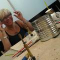 Andrea Weinke Groß Laasch 02 Glasperlen selbst gemacht Porzellanbilder Grabbilder Tierfriedhof  Anhänger
