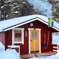 Gästehütte auf unserer Huskyfarm in Lappland