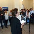 Vernissage-Rede der Mit-Kuratorin und Künstlerin Menia