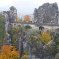 ein Wahrzeichen der Sächsischen Schweiz - die Basteibrücke