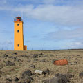 Leuchtturm in Selvogur (Reykjanes Halbinsel)