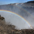 Dettifoss mit Doppel-Regenbogen