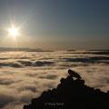 Über den Wolken auf dem Vindbelgjarfjall (am Mývatn)