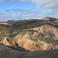 """""""bunte Berge"""" in Landmannalaugar (dt. """"die warmen Quellen der Leute von Land"""")"""