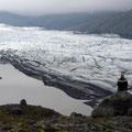 Blick auf eine der zahlreichen Gletscherzungen des Vatnajökull